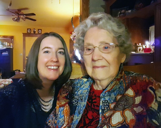 My favorite picture with my Grandma Margaret. She's so cute!